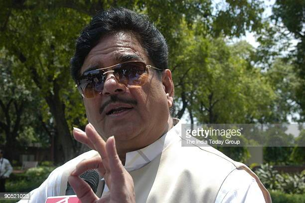 Shatrughan Sinha Bhartiya Janata Party leader and film star at Parliament house in New Delhi India