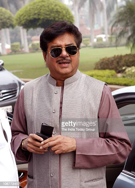 Shatrughan Sinha poses for the lensmen before the Winter Session in New Delhi on November 11 2010