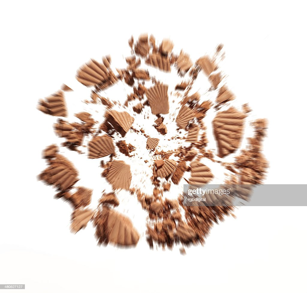 Shattered foundation : Stock Photo