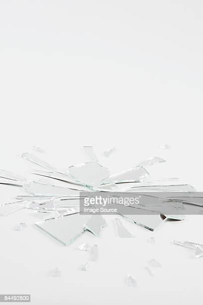Verre brisé un miroir