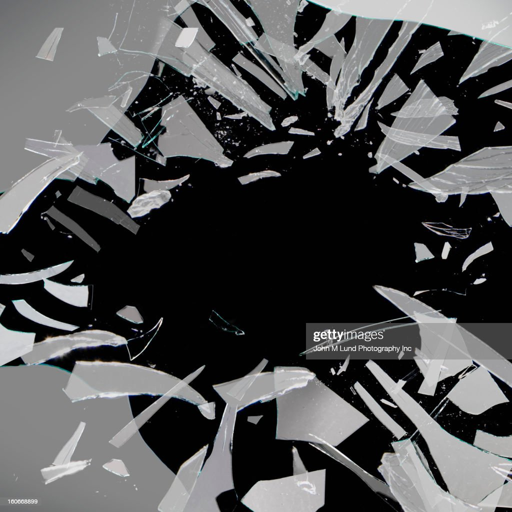 Shattering glass : Stock Photo