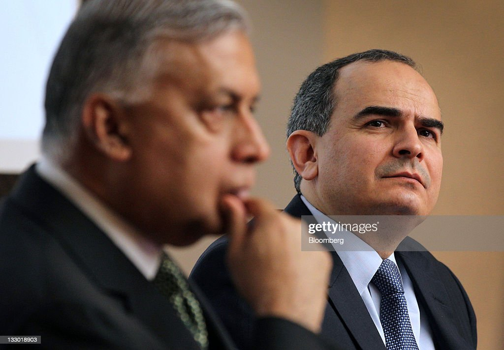 Shaukat Aziz, former prime minister of Pakistan, left, and Erdem Basci, governor of Turkey's central bank, attend a news conference after the Islamic Financial Intelligence Summit in Kuala Lumpur, Malaysia, on Wednesday, Nov. 16, 2011. Malaysia's inflation has peaked and stabilized, Bank Negara Malaysia Governor Zeti Akhtar Aziz told reporters in Kuala Lumpur yesterday. Photographer: Goh Seng Chong/Bloomberg via Getty Images Shaukat Aziz; Erdem Basci