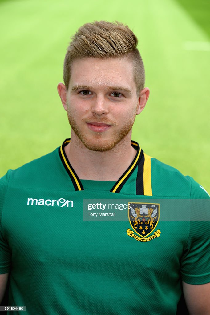 Shaun Barber Sports Science Intern poses for a portrait during the Northampton Saints squad photocall for the 20162017 Aviva Premiership Rugby season...