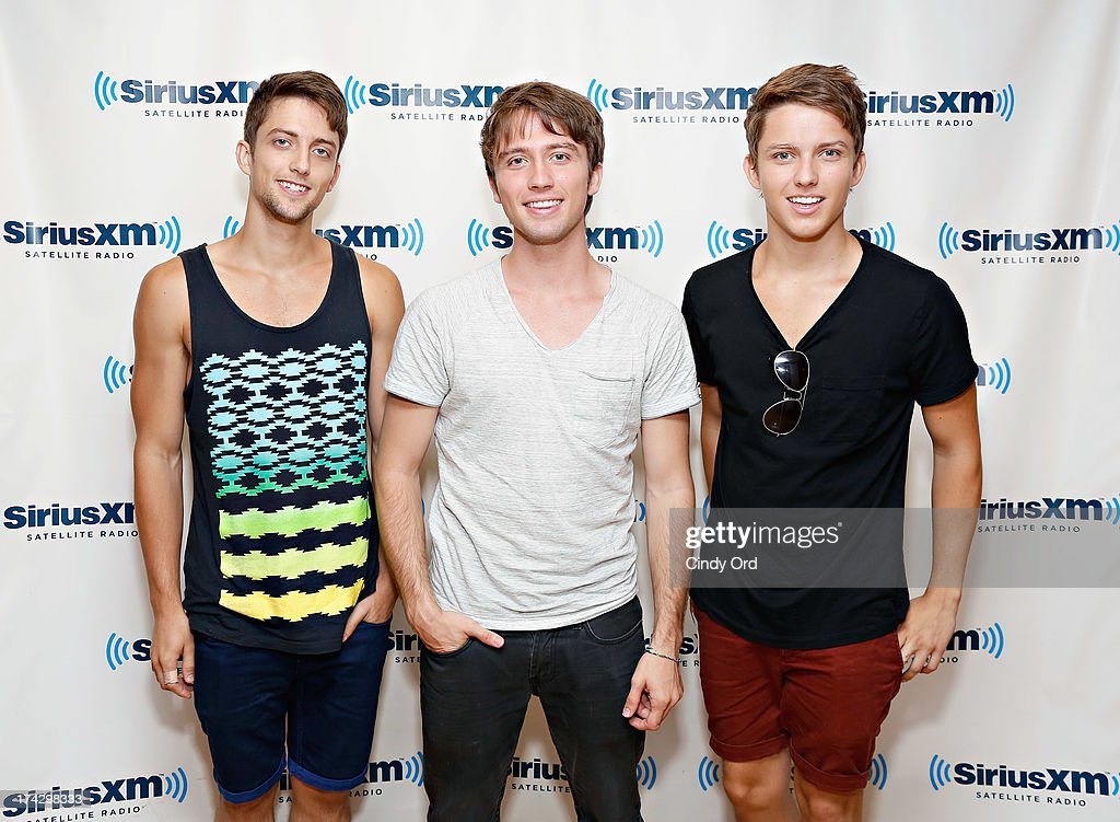 Shaun Boyd, <a gi-track='captionPersonalityLinkClicked' href=/galleries/search?phrase=Brandon+Boyd&family=editorial&specificpeople=182443 ng-click='$event.stopPropagation()'>Brandon Boyd</a> and Ryan Boyd of 3union visit the SiriusXM Studios on July 23, 2013 in New York City.