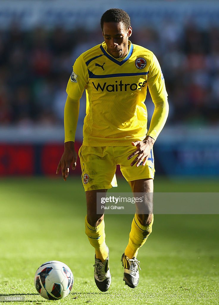 Shaun Cummings of Reading in action during the Barclays Premier League match between Swansea City and Reading at the Liberty Stadium on October 6, 2012 in Swansea, Wales.
