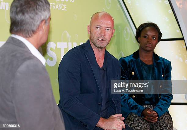 Shaun Custis The Sun's Head of Sport Alan Shearer former England captain Eni Aluko and England Women forward during the Tasting the Euros winetasting...