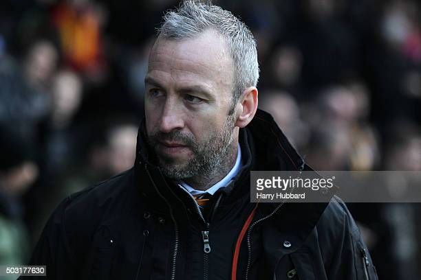 Shaun Derry Manager of Cambridge United before the Sky Bet League Two match between Cambridge United and AFC Wimbledon at Abbey Stadium on January 2...