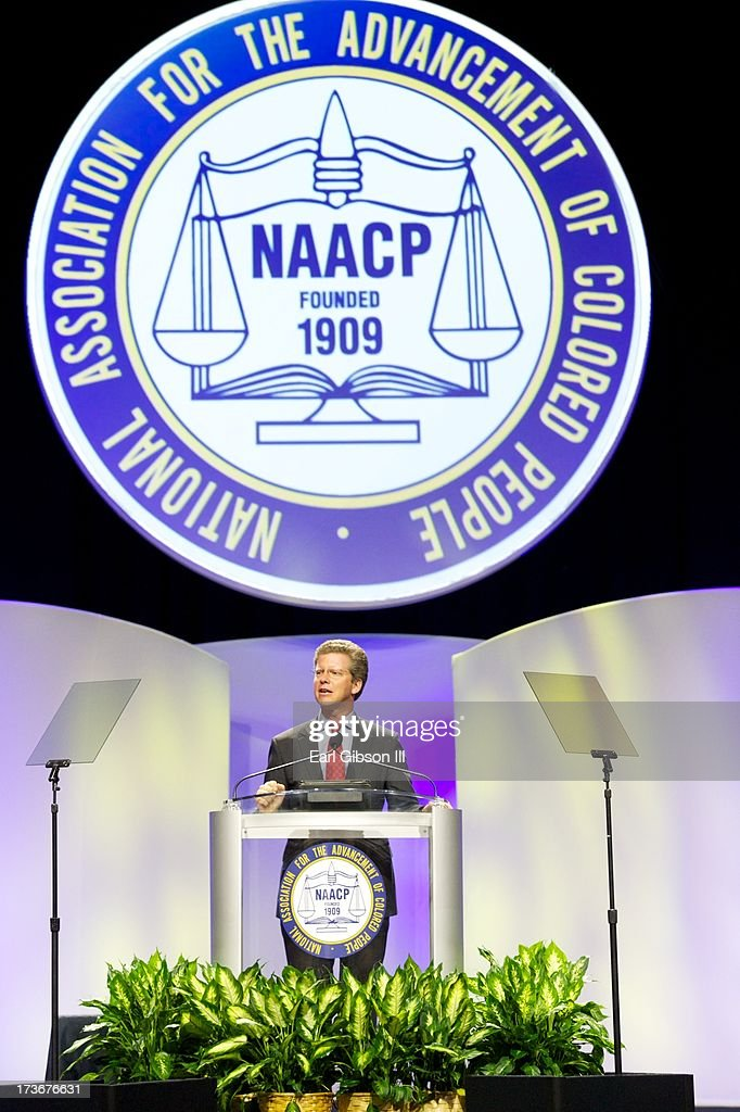 Shaun Donovan (Secretary, US Department of Houshing and Urban Development) speaks at one of the Plenary Sessions at the 'We Shall Not Be Moved' Symposium during the 104th NAACP Convention at Orange County Convention Center on July 16, 2013 in Orlando, Florida.