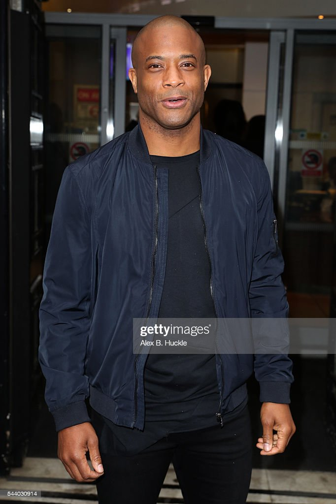 Shaun Escoffery seen arriving at the BBC Radio 2 Studios on July 1, 2016 in London, England.