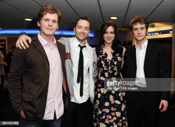 Shaun Evans director Sean Ellis Michelle Ryan and Sean Biggerstaff arrive for the VIP Screening of Cashback directed by Sean Ellis at the Odeon...