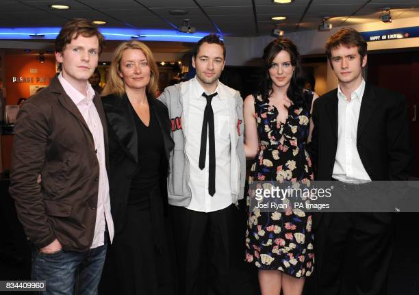 Shaun Evans producer Lene Bausager Director Sean Ellis Michelle Ryan and Sean Biggerstaff arrive for the VIP Screening of Cashback directed by Sean...