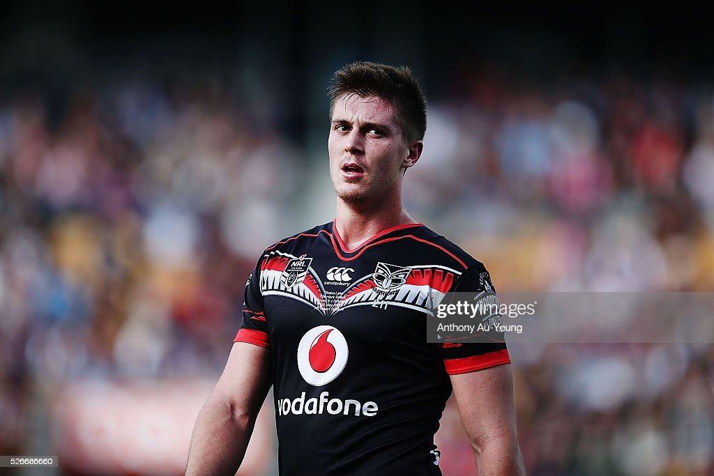 Shaun Lane of the Warriors looks on during the round nine NRL match between the New Zealand Warriors and the St George Illawarra Dragons at Mt Smart Stadium on May 1, 2016 in Auckland, New Zealand.