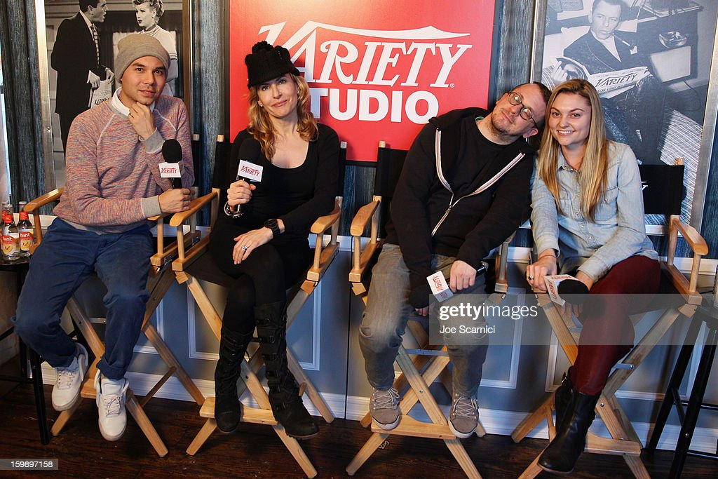 Shaun Lewis of Dockers, Variety's Brooke Turpin and Brett Anderson and Lauren Parker of Dockers attend Day 4 of the Variety Studio at 2013 Sundance Film Festival on January 22, 2013 in Park City, Utah.