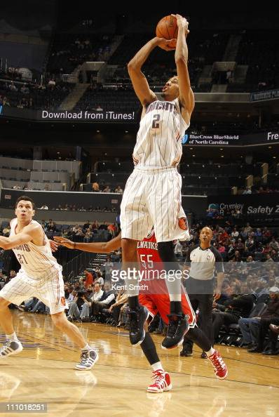 Shaun Livingston of the Charlotte Bobcats shoots against the Milwaukee Bucks on March 28 2011 at Time Warner Cable Arena in Charlotte North Carolina...
