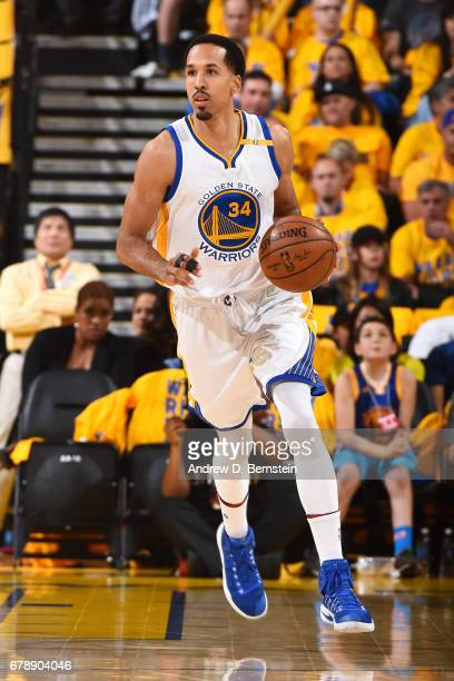 Shaun Livingston of the Golden State Warriors handles the ball during the game against the Utah Jazz during Game Two of the Western Conference...