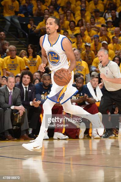 Shaun Livingston of the Golden State Warriors handles the ball against the Cleveland Cavaliers in Game One of the 2015 NBA Finals on June 4 2015 at...