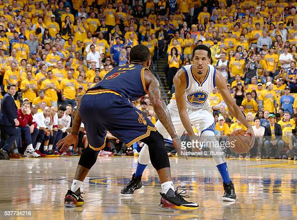 Shaun Livingston of the Golden State Warriors handles the ball against the Cleveland Cavaliers in Game One of the 2016 NBA Finals on June 2 2016 at...