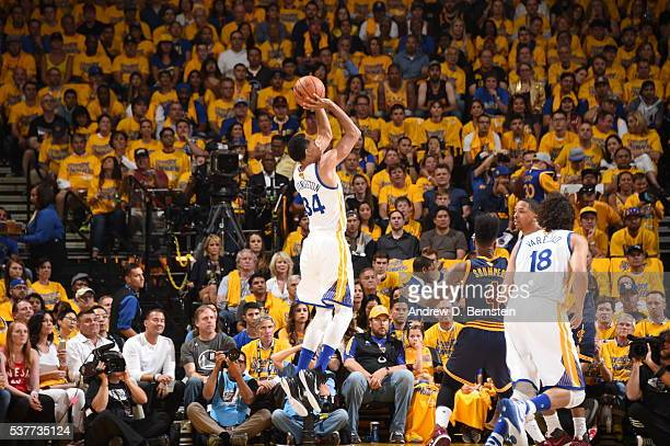 Shaun Livingston of the Golden State Warriors shoots against the Cleveland Cavaliers in Game One of the 2016 NBA Finals on June 2 2016 at Oracle...