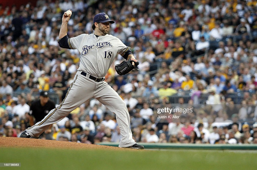 <a gi-track='captionPersonalityLinkClicked' href=/galleries/search?phrase=Shaun+Marcum&family=editorial&specificpeople=784110 ng-click='$event.stopPropagation()'>Shaun Marcum</a> #18 of the Milwaukee Brewers pitches against the Pittsburgh Pirates during the game on August 25, 2012 at PNC Park in Pittsburgh, Pennsylvania.