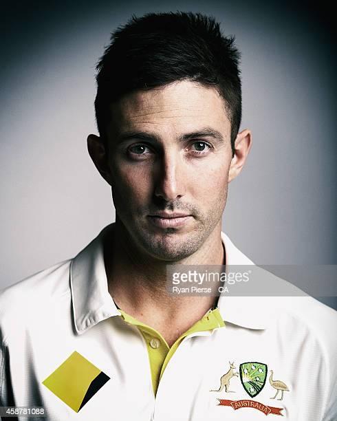 Shaun Marsh of Australia poses during an Australian Test Team Portrait Session on August 11 2014 in Sydney Australia