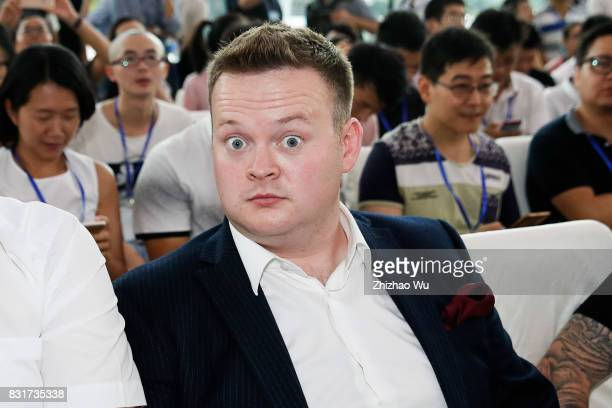 Shaun Murphy attends the press conference for the Evergrande 2017 World Snooker China Championship on August 15 2017 in Guangzhou China