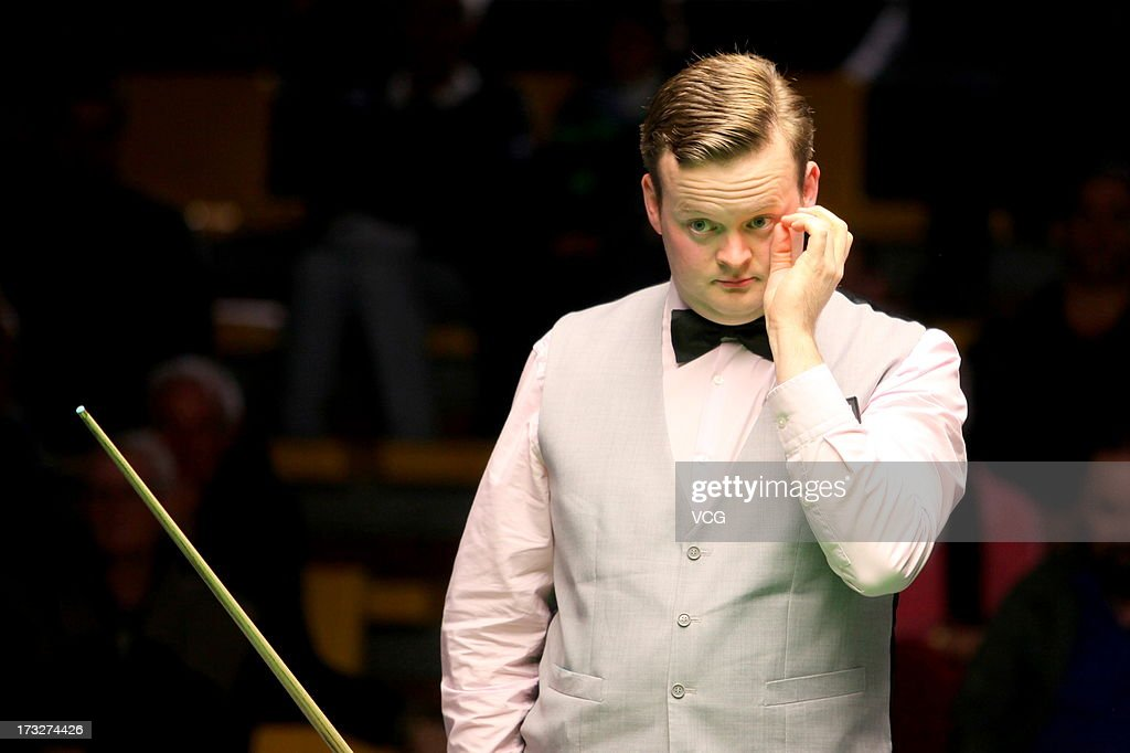 Shaun Murphy of England looks on during the match against Marco Fu of Hong Kong on day three of the World Snooker Australia Open at the Bendigo Stadium on July 11, 2013 in Bendigo, Australia.