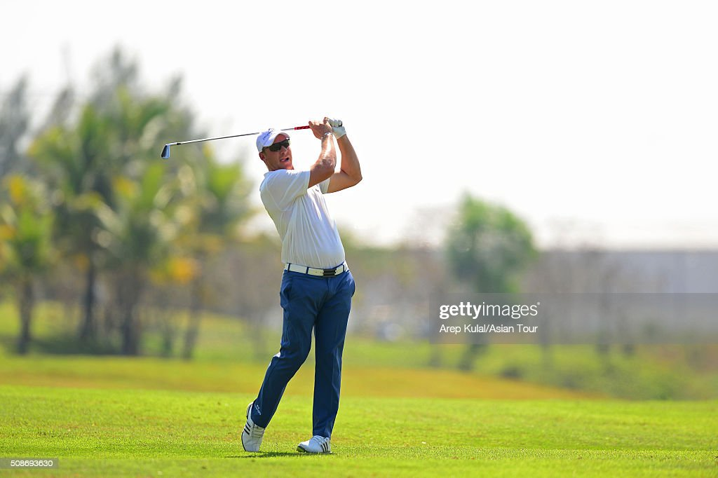 Shaun Norris of South Africa pictured during round three of the Leopalace21 Myanmar Open at Royal Mingalardon Golf and Country Club on February 6, 2016 in Yangon, Myanmar.