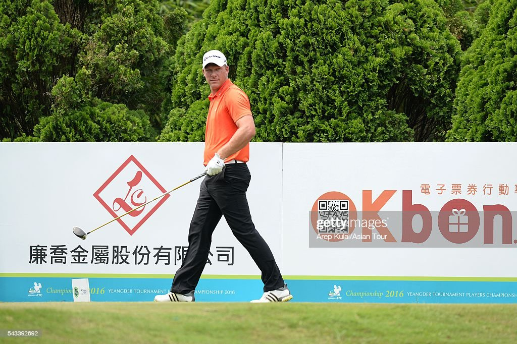 Shaun Norris of South Africa pictured during the practise round ahead of the Yeangder Tournament Players Championship at Linkou International Golf Club on June 28, 2016 in Taipei, Taiwan.