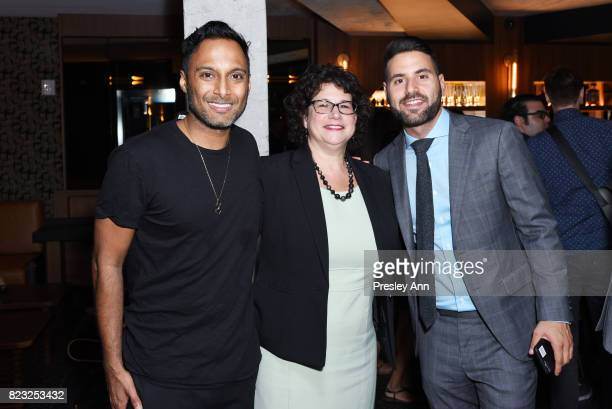 Shaun Pazel Lisa Grossberg and Evan Rosenberg attend as Fortuna Realty Group opens Sir Henri New York City's first penthouse speakeasy on July 26...