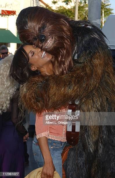 Shaun Robinson and Chewbacca during 'Star Wars Episode III Revenge of The Sith' Premiere to Benefit Artists for a New South Africa Charity Arrivals...