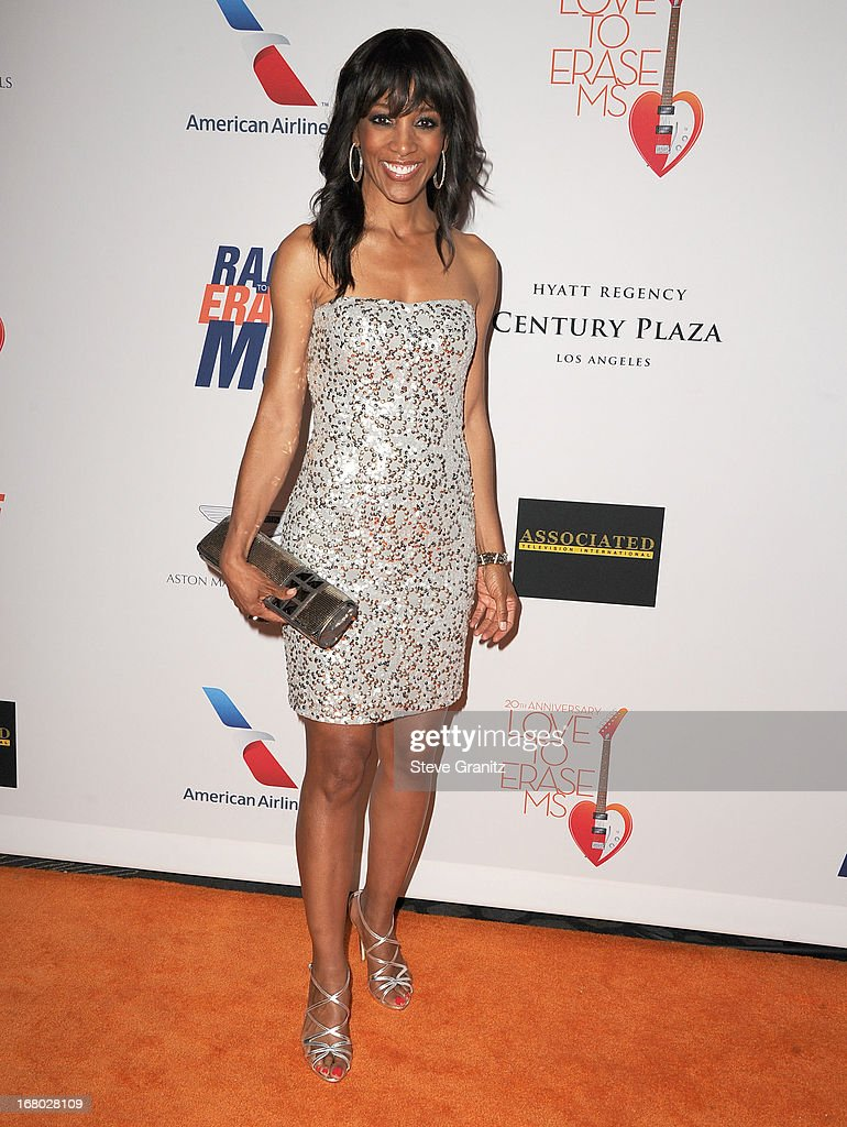 Shaun Robinson arrives at the 20th Annual Race To Erase MS Gala 'Love To Erase MS' at the Hyatt Regency Century Plaza on May 3, 2013 in Century City, California.