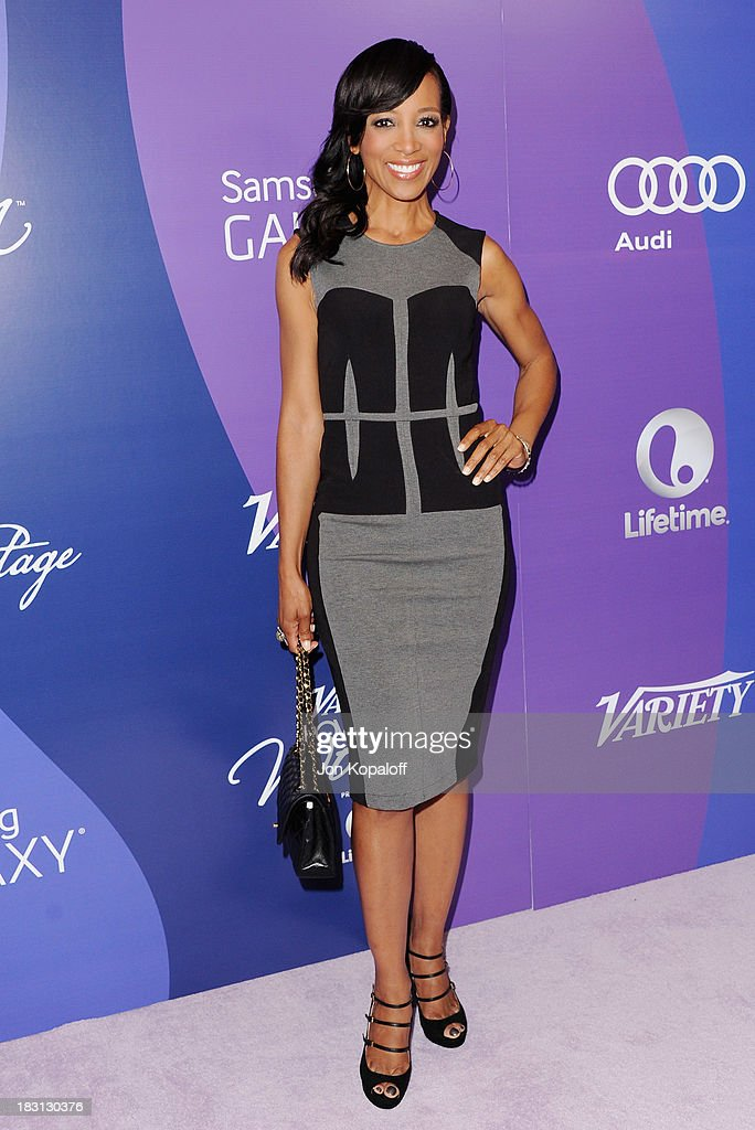 <a gi-track='captionPersonalityLinkClicked' href=/galleries/search?phrase=Shaun+Robinson&family=editorial&specificpeople=209263 ng-click='$event.stopPropagation()'>Shaun Robinson</a> arrives at Variety's 5th Annual Power Of Women Event at the Beverly Wilshire Four Seasons Hotel on October 4, 2013 in Beverly Hills, California.