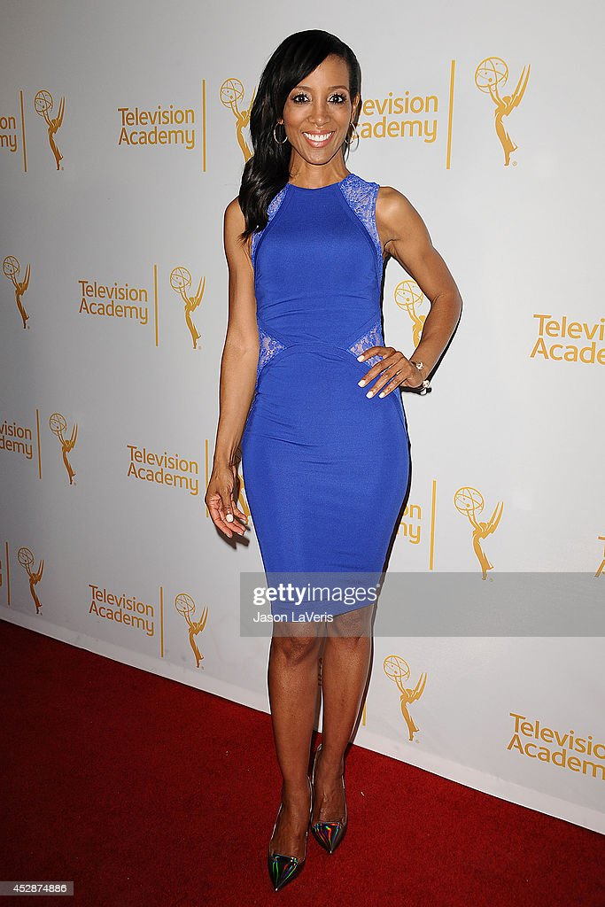<a gi-track='captionPersonalityLinkClicked' href=/galleries/search?phrase=Shaun+Robinson&family=editorial&specificpeople=209263 ng-click='$event.stopPropagation()'>Shaun Robinson</a> attends the Television Academy's performers peer group celebrating the 66th Emmy Awards at Montage Beverly Hills on July 28, 2014 in Beverly Hills, California.