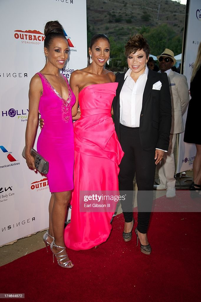Shaun Robinson, Holly Robinson Peete and Tisha Campbell-Martin attend the 15th Annual DesignCare on July 27, 2013 in Malibu, California.