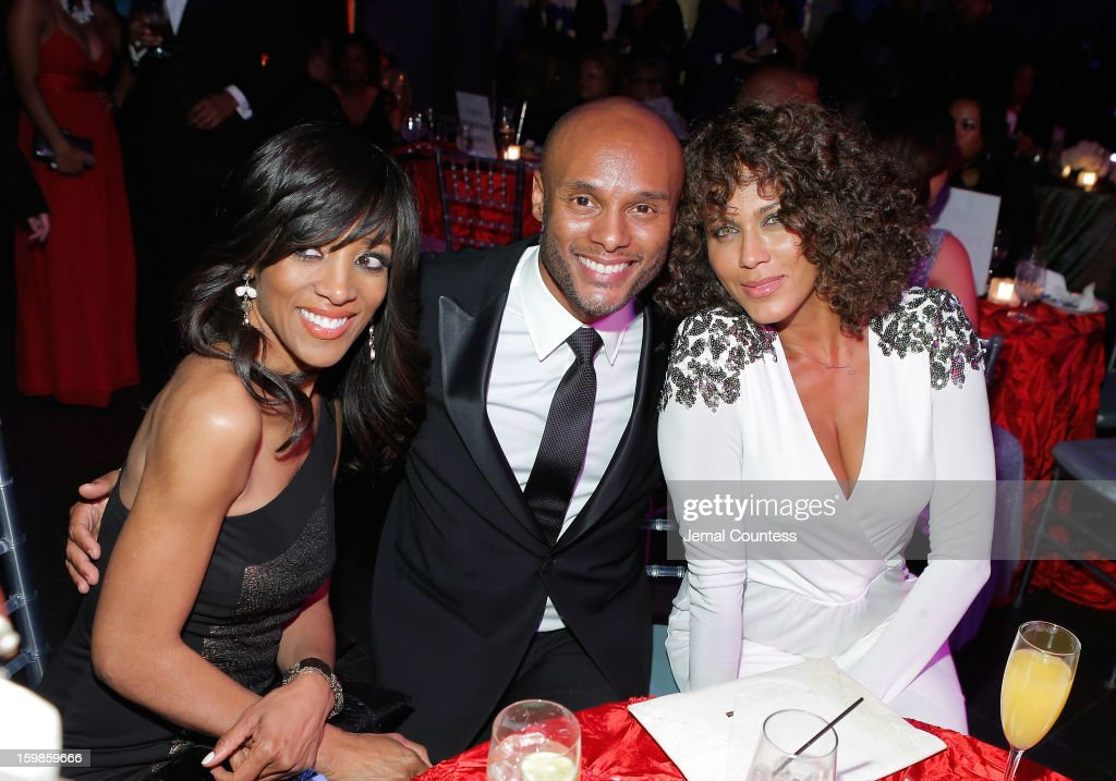 Shaun Robinson Kenny Lattimore and Nicole Ari Parker attend the Inaugural Ball hosted by BET Networks at Smithsonian American Art Museum National...