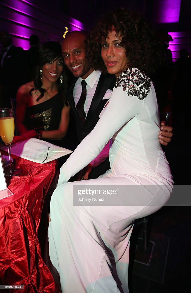 Shaun Robinson, Kenny Lattimore, and Nicole Ari Parker Kodjoe attend the 2013 BET Networks Inaugural Gala at Smithsonian National Museum Of American History on January 21, 2013 in Washington, United States.
