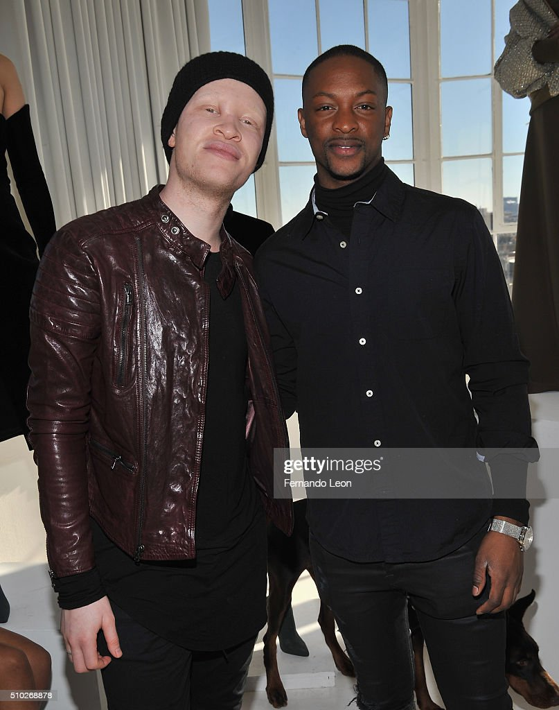 <a gi-track='captionPersonalityLinkClicked' href=/galleries/search?phrase=Shaun+Ross&family=editorial&specificpeople=5872254 ng-click='$event.stopPropagation()'>Shaun Ross</a> and designer Laquan Smith (R) attend the Laquan Smith Presentation at Jack Studios during Fall 2016 New York Fashion Week on February 14, 2016 in New York City.