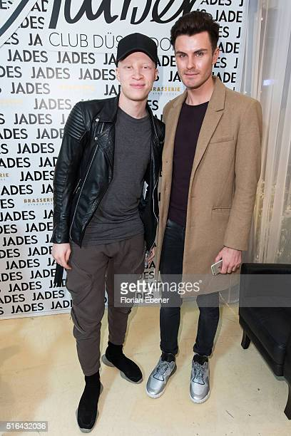 Shaun Ross and PaulHenry Duval attend a meet and greet at Jades on March 18 2016 in Duesseldorf Germany