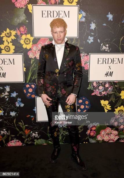 Shaun Ross at HM x ERDEM Runway Show Party at The Ebell Club of Los Angeles on October 18 2017 in Los Angeles California