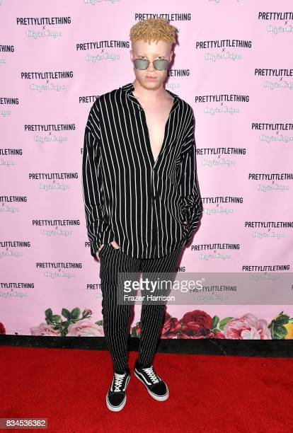 Shaun Ross attends PrettyLittleThing X Olivia Culpo Launch at Liaison Lounge on August 17 2017 in Los Angeles California
