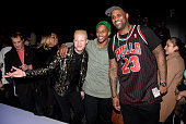 Shaun Ross Victor Cruz of the New York Giants and CC Sabathia of the New York Yankess attend Rookie USA Presents Kids Rock Front Row Backstage Fall...