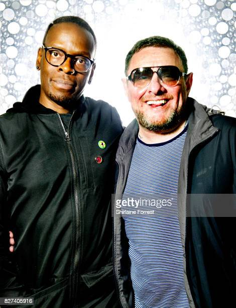 Shaun Ryder and Kermit of Black Grape pose backstage after meeting fans and signing copies of their new album 'Pop Voodoo' at HMV Manchester on...
