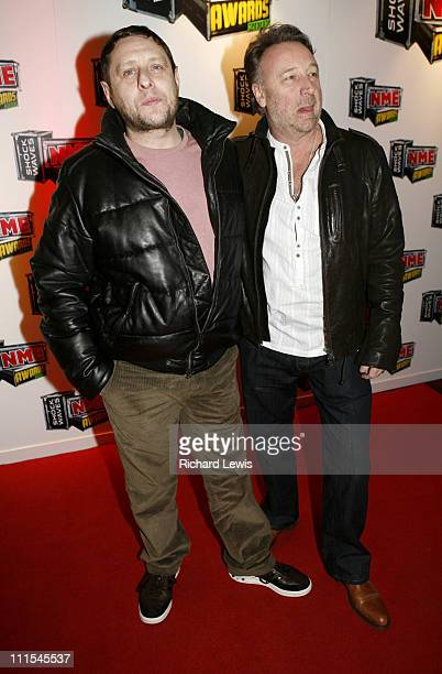 Shaun Ryder and Peter Hook arrive at the Shockwaves NME Awards 2007