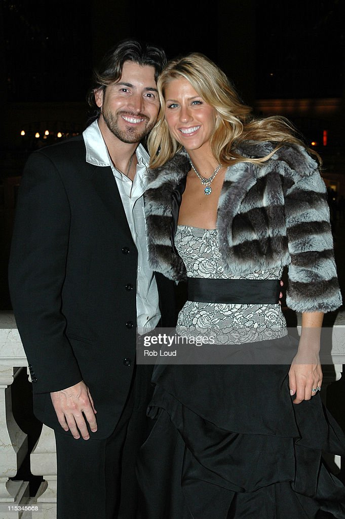 Shaun Silva and Shannon Brown during The 39th Annual CMA Awards - Warner Bros. After Party at Metrazur in New York, New York, United States.