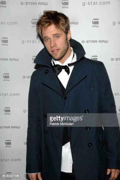 Shaun Sipos attends GSTAR RAW Presents NY RAW Fall/Winter 2010 Collection Arrivals at Hammerstein Ballroom on February 16 2010 in New York City