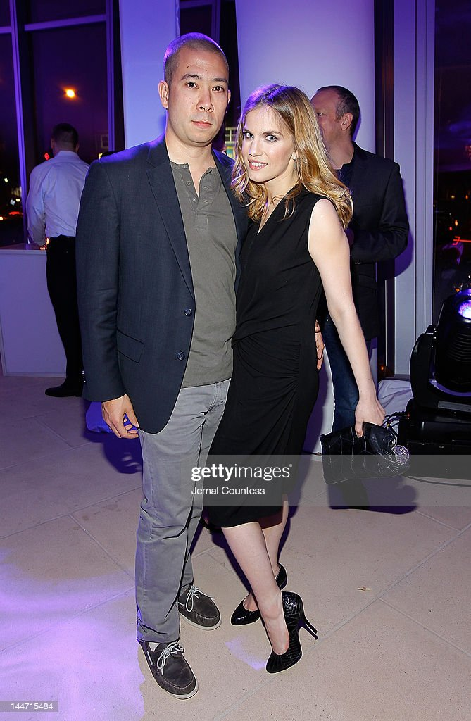Shaun So and actress <a gi-track='captionPersonalityLinkClicked' href=/galleries/search?phrase=Anna+Chlumsky&family=editorial&specificpeople=1133442 ng-click='$event.stopPropagation()'>Anna Chlumsky</a> at the IAC & Aereo IWNY HQ Closing Party on May 17, 2012 in New York City.