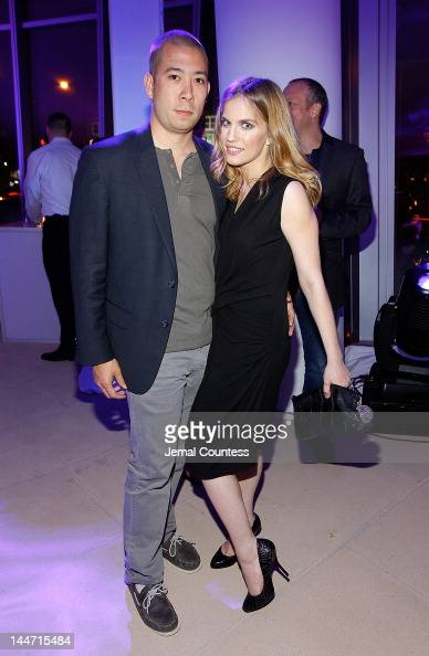 Shaun So and actress Anna Chlumsky at the IAC Aereo IWNY HQ Closing Party on May 17 2012 in New York City
