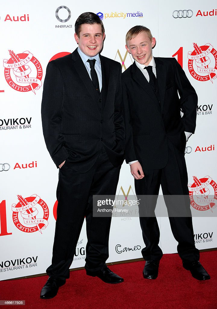 Shaun Thomas and Conner Chapman attend the London Critics' Circle Film Awards at The Mayfair Hotel on February 2, 2014 in London, England.
