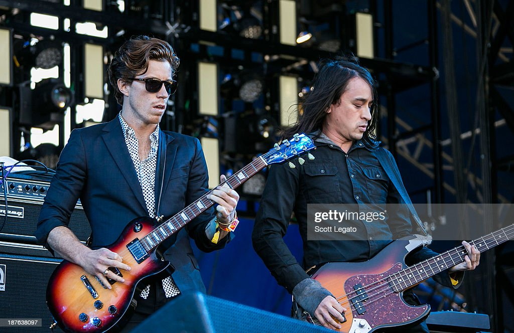 Shaun White (L) and Jared Palomar of Bad Things performs at the 2013 Voodoo Music + Arts Experience at City Park on November 2, 2013 in New Orleans, Louisiana.