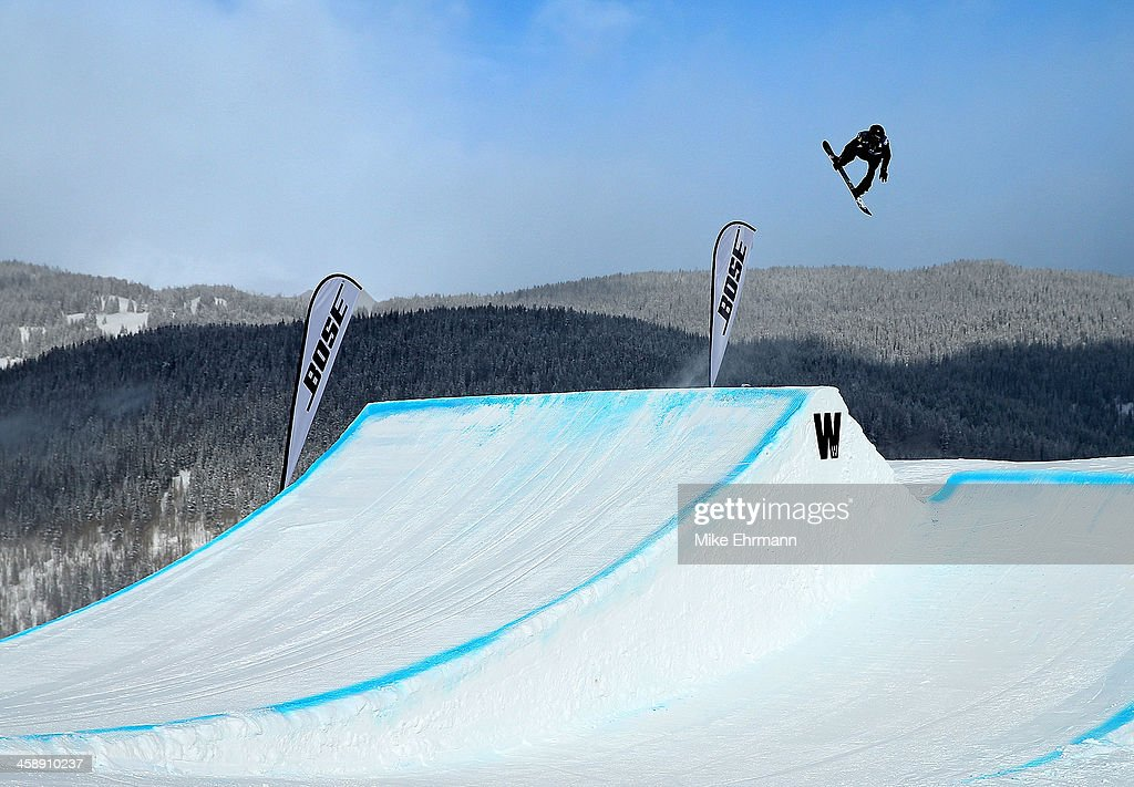 Shaun White competes during finals for the mens FIS Snowboard Slopestyle World Cup at U.S. Snowboarding and Freeskiing Grand Prix on December 22, 2013 in Copper Mountain, Colorado.